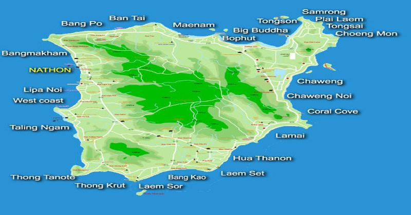 samui location map