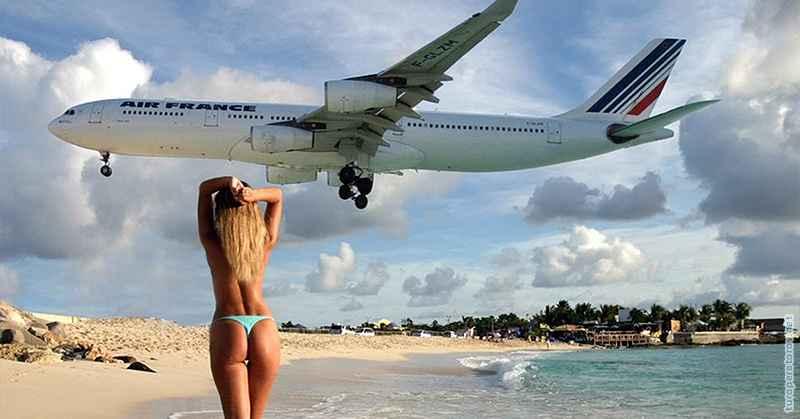 Фото с самолетом и пляж